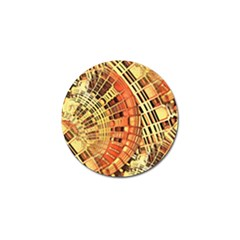 Semi Circles Abstract Geometric Modern Art Orange Golf Ball Marker (4 Pack) by CrypticFragmentsDesign