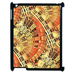 Semi Circles Abstract Geometric Modern Art Orange Apple Ipad 2 Case (black) by CrypticFragmentsDesign