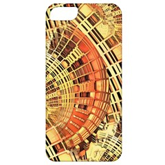 Semi Circles Abstract Geometric Modern Art Orange Apple Iphone 5 Classic Hardshell Case by CrypticFragmentsDesign