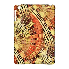 Semi Circles Abstract Geometric Modern Art Orange Apple Ipad Mini Hardshell Case (compatible With Smart Cover) by CrypticFragmentsDesign