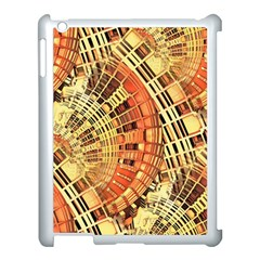 Semi Circles Abstract Geometric Modern Art Orange Apple Ipad 3/4 Case (white) by CrypticFragmentsDesign