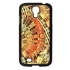 Semi Circles Abstract Geometric Modern Art Orange Samsung Galaxy S4 I9500/ I9505 Case (black) by CrypticFragmentsDesign