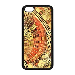 Semi Circles Abstract Geometric Modern Art Orange Apple Iphone 5c Seamless Case (black) by CrypticFragmentsDesign