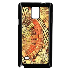 Semi Circles Abstract Geometric Modern Art Orange Samsung Galaxy Note 4 Case (black) by CrypticFragmentsDesign