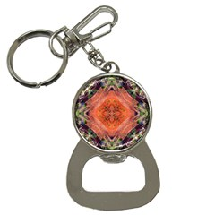 Boho Bohemian Hippie Floral Abstract Faded  Bottle Opener Key Chains by CrypticFragmentsDesign