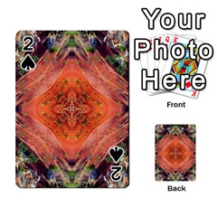 Boho Bohemian Hippie Floral Abstract Faded  Playing Cards 54 Designs  by CrypticFragmentsDesign
