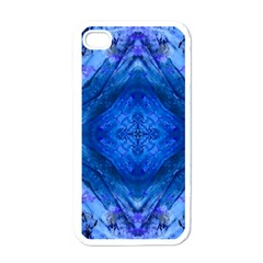 Boho Bohemian Hippie Tie Dye Cobalt Apple Iphone 4 Case (white) by CrypticFragmentsDesign