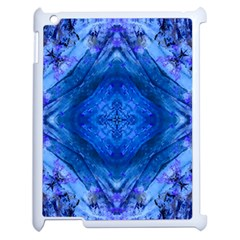 Boho Bohemian Hippie Tie Dye Cobalt Apple Ipad 2 Case (white) by CrypticFragmentsDesign