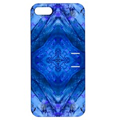 Boho Bohemian Hippie Tie Dye Cobalt Apple Iphone 5 Hardshell Case With Stand by CrypticFragmentsDesign