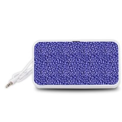 Abstract Texture Portable Speaker (White)  by dflcprints