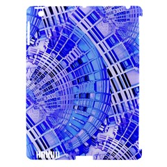 Semi Circles Abstract Geometric Modern Art Blue  Apple Ipad 3/4 Hardshell Case (compatible With Smart Cover) by CrypticFragmentsDesign