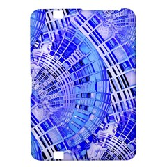 Semi Circles Abstract Geometric Modern Art Blue  Kindle Fire Hd 8 9  by CrypticFragmentsDesign