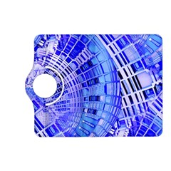Semi Circles Abstract Geometric Modern Art Blue  Kindle Fire Hd (2013) Flip 360 Case by CrypticFragmentsDesign