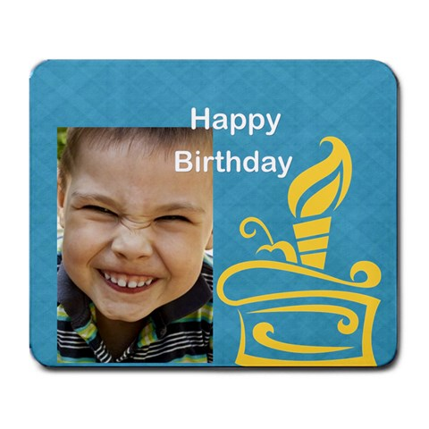 Kids Birthday By Happy Birthday   Large Mousepad   Bj0dz7ombehc   Www Artscow Com Front