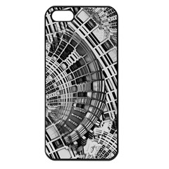 Semi Circles Abstract Geometric Modern Art Apple Iphone 5 Seamless Case (black) by CrypticFragmentsDesign