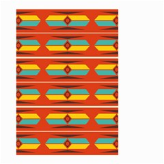 Shapes In Retro Colors Pattern                        Small Garden Flag by LalyLauraFLM
