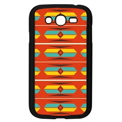 Shapes In Retro Colors Pattern                        			samsung Galaxy Grand Duos I9082 Case (black) by LalyLauraFLM