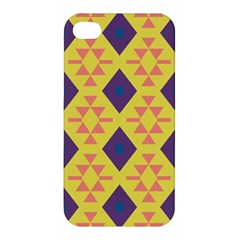 Tribal Shapes And Rhombus Pattern                        apple Iphone 4/4s Premium Hardshell Case by LalyLauraFLM
