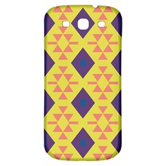Tribal Shapes And Rhombus Pattern                        samsung Galaxy S3 S Iii Classic Hardshell Back Case by LalyLauraFLM