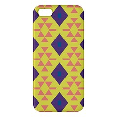 Tribal Shapes And Rhombus Pattern                        iphone 5s Premium Hardshell Case by LalyLauraFLM