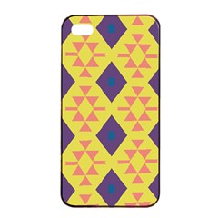 Tribal Shapes And Rhombus Pattern                        			apple Iphone 4/4s Seamless Case (black) by LalyLauraFLM