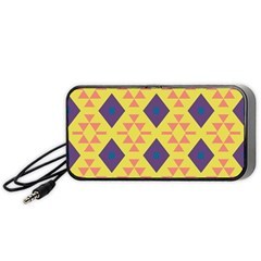 Tribal Shapes And Rhombus Pattern                        Portable Speaker by LalyLauraFLM