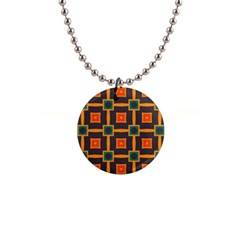 Connected Shapes In Retro Colors                         			1  Button Necklace by LalyLauraFLM