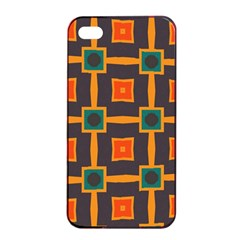 Connected Shapes In Retro Colors                         apple Iphone 4/4s Seamless Case (black) by LalyLauraFLM