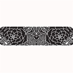 Mariager, Bold Flower Design, Black & White Large Bar Mat by Zandiepants