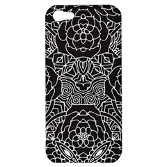 Mariager, Bold Flower Design, Black & White Apple Iphone 5 Hardshell Case by Zandiepants