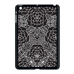Mariager, Bold Flower Design, Black & White Apple Ipad Mini Case (black) by Zandiepants