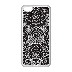 Solid Black Apple Iphone 5c Seamless Case (white) by Zandiepants