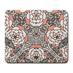 Petals In Vintage Pink, Bold Flower Design Large Mousepad by Zandiepants