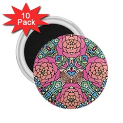 Petals, Carnival, Bold Flower Design 2 25  Magnet (10 Pack) by Zandiepants