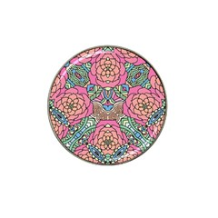 Petals, Carnival, Bold Flower Design Hat Clip Ball Marker (4 Pack) by Zandiepants