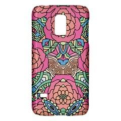 Petals, Carnival, Bold Flower Design Samsung Galaxy S5 Mini Hardshell Case  by Zandiepants