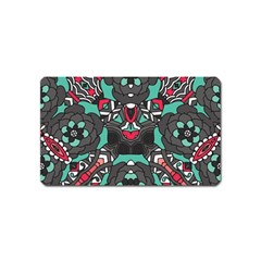Petals In Dark & Pink, Bold Flower Design Magnet (name Card) by Zandiepants
