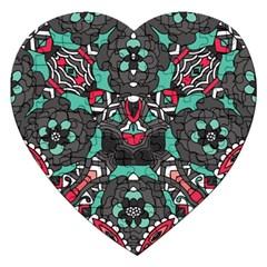 Petals In Dark & Pink, Bold Flower Design Jigsaw Puzzle (heart) by Zandiepants