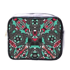 Petals In Dark & Pink, Bold Flower Design Mini Toiletries Bag (one Side) by Zandiepants