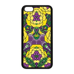 Petals In Mardi Gras Colors, Bold Floral Design Apple Iphone 5c Seamless Case (black) by Zandiepants
