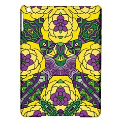 Petals In Mardi Gras Colors, Bold Floral Design Apple Ipad Air Hardshell Case by Zandiepants