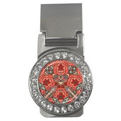 Petals In Pale Rose, Bold Flower Design Money Clip (cz) by Zandiepants