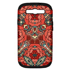 Petals In Pale Rose, Bold Flower Design Samsung Galaxy S Iii Hardshell Case (pc+silicone) by Zandiepants