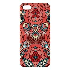 Petals In Pale Rose, Bold Flower Design Apple Iphone 5 Premium Hardshell Case by Zandiepants