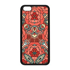 Petals In Pale Rose, Bold Flower Design Apple Iphone 5c Seamless Case (black) by Zandiepants