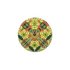 Petals, Retro Yellow, Bold Flower Design Golf Ball Marker (4 Pack) by Zandiepants