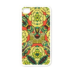 Petals, Retro Yellow, Bold Flower Design Apple Iphone 4 Case (white) by Zandiepants