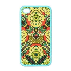 Petals, Retro Yellow, Bold Flower Design Apple Iphone 4 Case (color) by Zandiepants