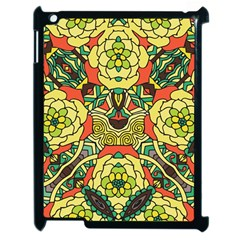 Petals, Retro Yellow, Bold Flower Design Apple Ipad 2 Case (black) by Zandiepants