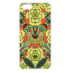 Petals, Retro Yellow, Bold Flower Design Apple Iphone 5 Seamless Case (white) by Zandiepants
